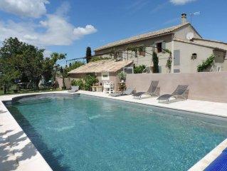 Mas Luberon piscine a eau salee, charme et authenticite.