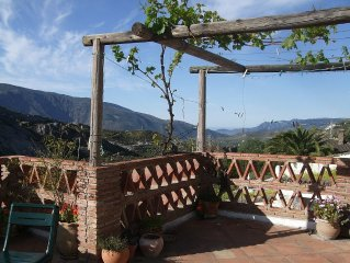 Stunning Views from Vine Terraces Down Rio Chico Valley