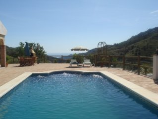Stunning villa with large private pool and breathtaking sea & mountain views.