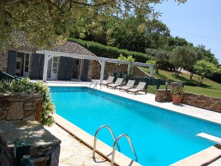 Nr St Tropez Beautiful Luxury Villa Stunning Views Walking Distance to Village