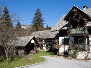 LARGE HOUSE ON THE SAVA RIVER, 10 MINUTES WALK TO LAKE BOHINJ