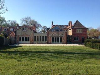 Caradon House, 5 Star, Grade II listed, 10 bedrooms, sleeps 20, North Norfolk