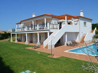 Luxury Villa. Large pool. Great sea & inland views. 5 bedrooms. Sleeps 10. WiFi.