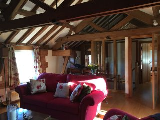 Barn conversion backing up to river- Amazing  Coastal, River Walks & Views