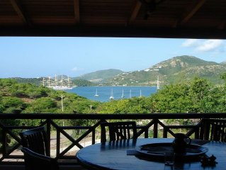 Traditional Caribbean style 4 bed villa sleeps 10 with pool & spectacular views!