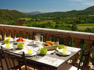 Converted Barn In Pyrenean Foothills with Private Pool and Spectacular Views