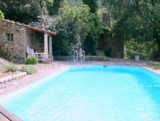 Villa independante,piscine privee,au calme, grand terrain boise, luberon