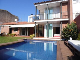 Villa 5 minutes walk from the beach, private pool