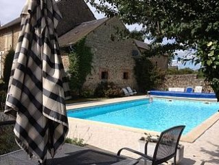 Beautiful French Barn Conversion Sleeps 10. Exclusive swimming pool.