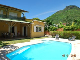 Large villa for rent in Tamarin R. Black. Mauriti