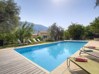 Stunning 5 bed, 5 bath villa with heated private pool and tennis court