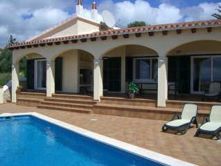 Newly built 3 bed 3 bath family villa with spectacular sea views