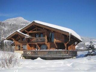 Beautiful and Authentic Alpine Chalet for Skiing and Summer Activities at Megeve