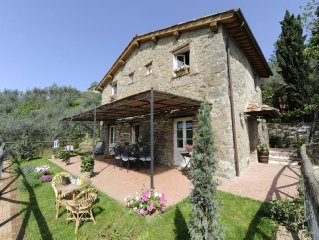 Typical Tuscan Farmhouse, Finely Furnished, With Terrace On Enchanting View.