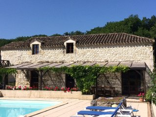 Family holiday home in rural France with large pool and far reaching views