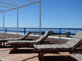 Luxury frontline duplex penthouse, central Marbella with 60 sq m corner terrace