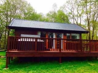 Cabin with Jacuzzi Hot Tub and wonderful views of Loch Awe