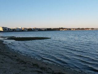 First floor flat in Sandbanks overlooking Poole Harbour