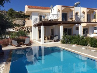 Luxury Villa Large Heated Private Pool - Spectacular Views Tsampika Beach