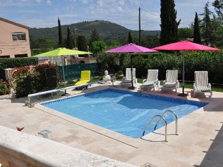 4* Villa With Heated, Private Pool, Air Con And Views Over The Hills Of Taradeau