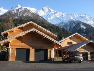 Lovely new chalet in picturesque area with direct views of the Mont Blanc