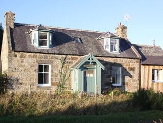 Family friendly cottage on small private estate, very close to the River Spey