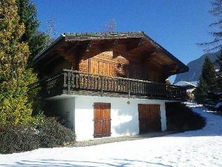 Traditional Style Chalet In A Sunny Position With Views Over The Valley