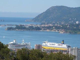 Spacieuse et lumineuse villa vue panoramique jacuzzi exterieur privatif