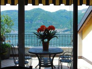 Lezzeno - Lago di Como - Attico con terrazzo e vista mozzafiato