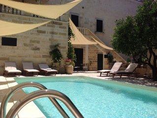 Historic maison with pool - rural big garden- near sea Otranto Castro  WI FI