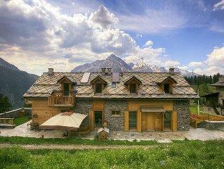 Moderno chalet 1800 m. immerso nella natura, vista spettacolare, family-friendly