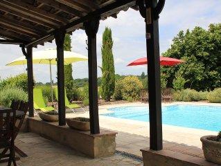19th Century Rural Farmhouse, Private Pool, Landscaped Gardens, Fantastic Views.