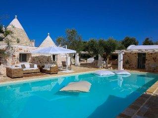 Villa di lusso con piscina privata: Trullo in Ostuni