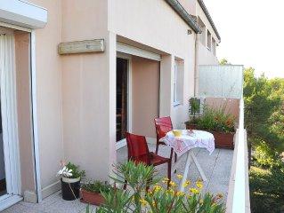 Bel appartement Aix,Calme, Ascenseur, Wifi, Climatisé, Garage inclus, res secur