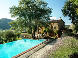 Luxury Villa with Private Pool and views across the Niccone Valley