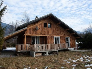 Chalet Les Marmottes With Mountain Views. Morillon - Haute Savoie - French Alps