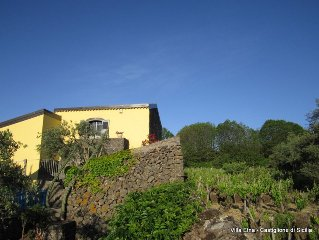 Romantic 18th Century Hilltop Farmhouse In Vineyard- Stunning Mt. Etna View&pool