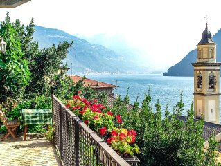 Romantic Lake Como Cottage with Breathtaking 180-degree Lake View