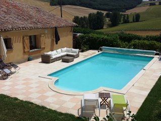 Modernised French farmhouse in stunning location with pool and lovely views