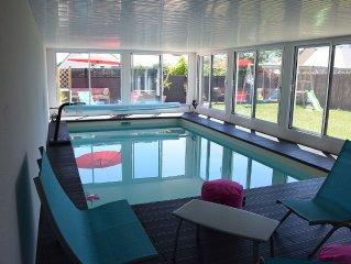 villa 12 pers. avec piscine int. chauffee classee 4 etoiles