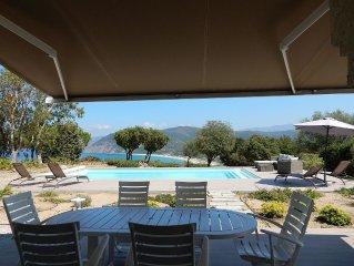 Superbe Villa 4 ch, piscine chauffee, fantastique vue mer