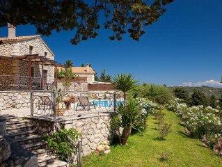 Private Lefkas villa with private pool, sea views