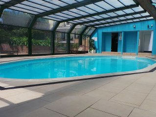 Apartment in Fowey, Cornwall with Heated Pool, Parking and Private Garden