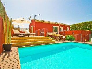 Villa con estilo en Palma, con piscina privada y jardín