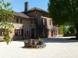 Beautiful 200 year old large farmhouse with private pool set in 75 acres
