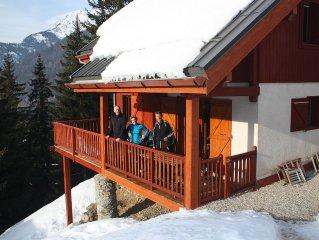 Luxe vrijstaand 12 persoons skichalet aan de piste in hart skigebied Alpe d'Huez