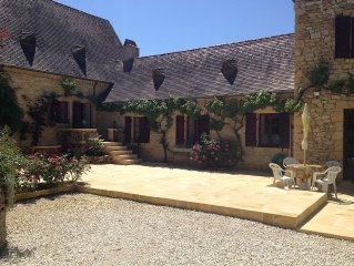 Stunning Gites with heated pool, central to historic sites and local facilities