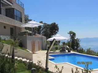 NEW luxury villa; stunning panoramic SEA VIEW; 250 m2 terraces; big pool &garden