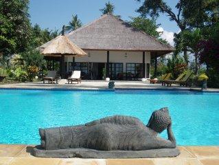 Droomvilla op Bali, direct aan zee