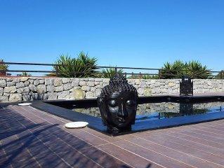 """Ibiza. Cala Moli. San Jose. Villa con vistas a islas Bledas yl S""""Espartar, con h"""